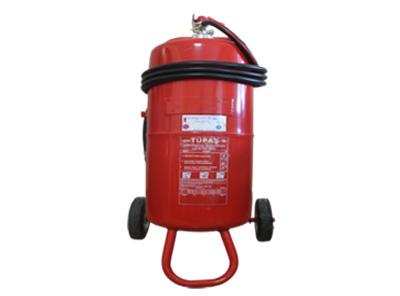 12 kg arabalı ABC kuru kimyevi tozlu yangın söndürme cihazı